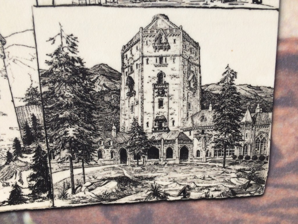 Drawing of would have become the President's summer residence.